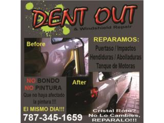 Reparación Dents o Puertazo ( Abolladuras ) Puerto Rico  Dent Out Puerto Rico (Paintless Dents Repair)