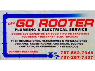 PLUMBING & ELECTRICAL SERVICES 787 562-7948 Puerto Rico GO ROOTER PLUMBING & ELECTRICAL SERVICE