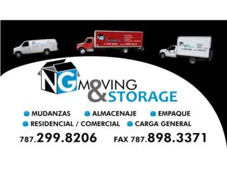 MUDANZAS, ALMACENAJE, EMPAQUE, CARGA GENERAL Puerto Rico NG MOVING & STORAGE