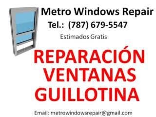 REPARACION VENTANAS GUILLOTINA Puerto Rico Metro Windows Repair