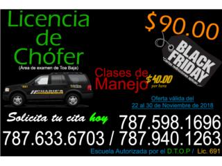 Exámen de Chofer BLACK FRIDAY Puerto Rico Charie's Driving School