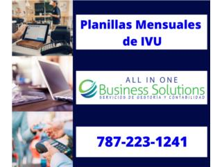 PLANILLAS MENSUALES DE IVU Puerto Rico ALL IN ONE BUSINESS SOLUTIONS